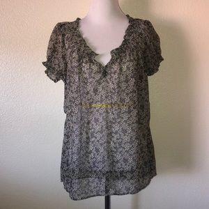 Converse peasant blouse